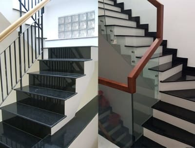 Samples of beautiful marble tiles staircase 2020